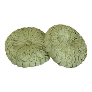 High Quality Custom Made Green Damask Decorative Pillows For Sale