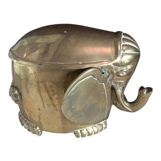 Mid-Century Modern Brass Elephant Box For Sale