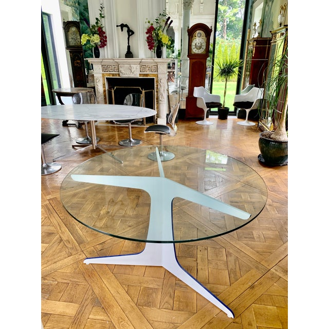 Contemporary Glass Top Dining Table Chairish