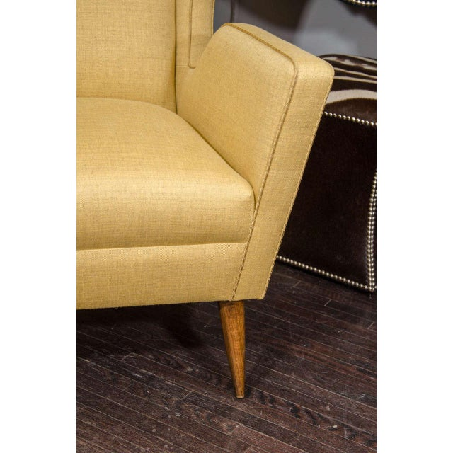 2010s Custom Modernist Armchair and Ottoman For Sale - Image 5 of 10