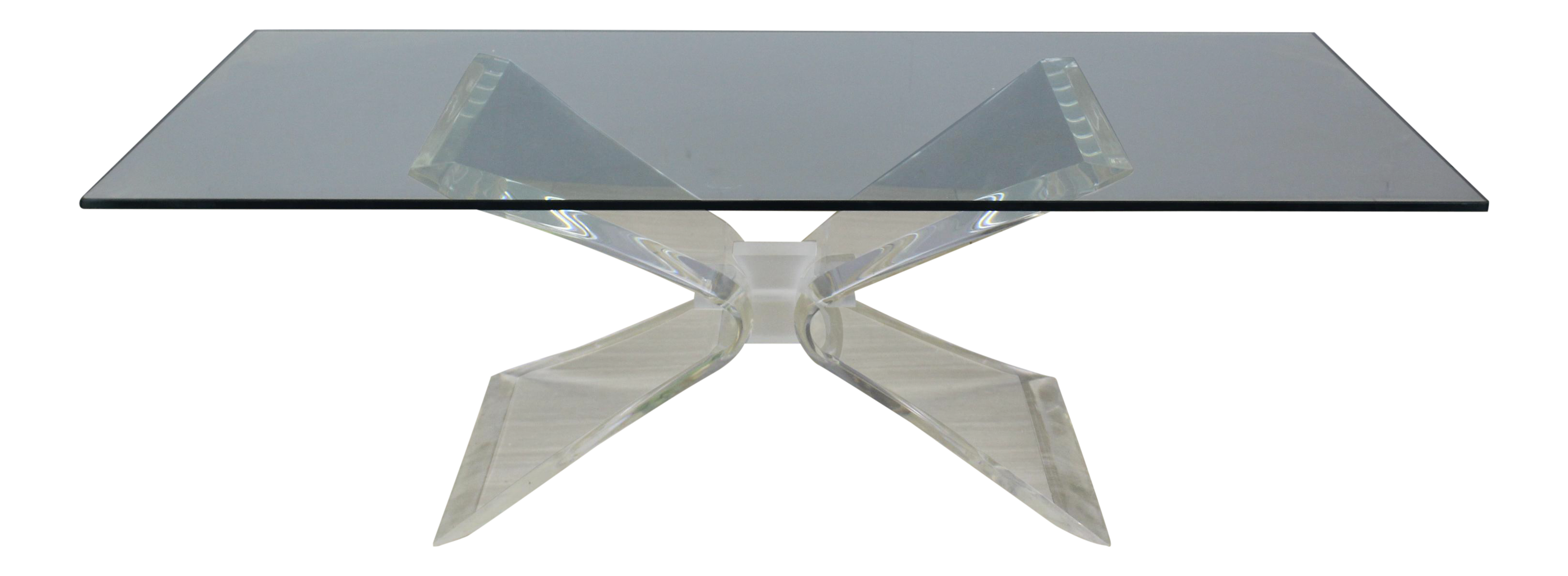 Vintage Butterfly Lucite Coffee Table