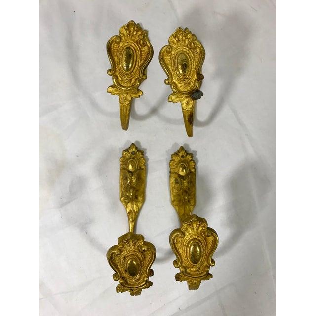 Napoleon III Bronze Dorè Curtain Tie Backs Set of 4 For Sale - Image 13 of 13