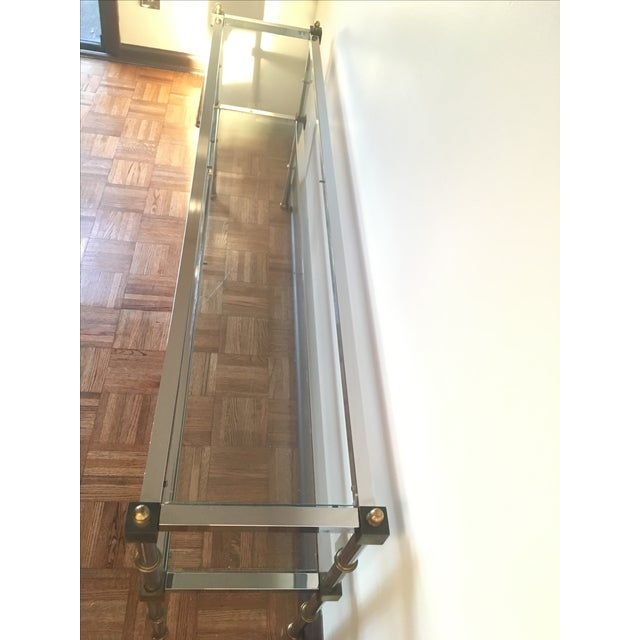 Chrome, Brass & Glass Console Table, 1970s - Image 5 of 6