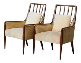 Image of Mid-Century Modern Club Chairs