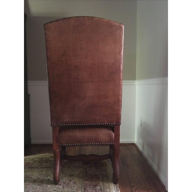 Ralph Lauren Leather Dining or Accent Chairs - S/2 - Image 5 of 8