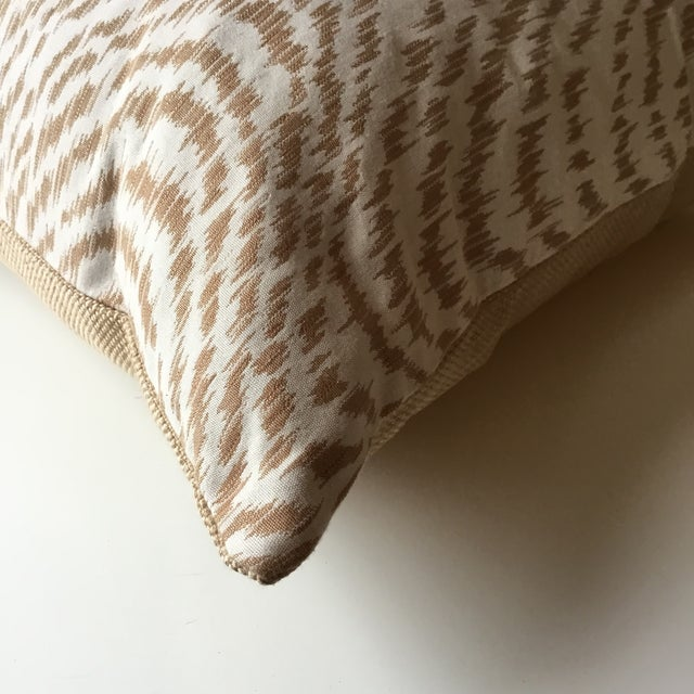Textile Neutral Tiger Stripe Pillow For Sale - Image 7 of 10