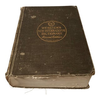 1947 Antique Webster's Dictionary For Sale