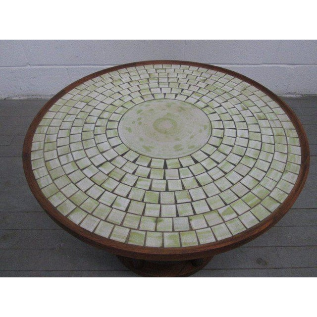 Gordon Martz Ceramic Tile-Top Table by Gordon Martz For Sale - Image 4 of 5