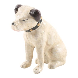 "20th Century Americana RCA ""Nipper"" Dog Cast Iron Coin Bank"