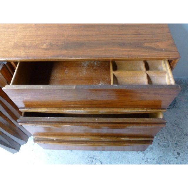 1950s Vintage Danish Modern Style Credenza/Chest For Sale - Image 9 of 13