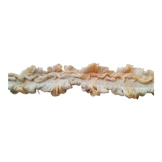 Double Fringed Beige, Pale Yellow and Cream Trim - 10.5 Yards For Sale