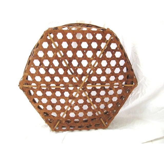 Large Round Asian Basket - Image 3 of 7