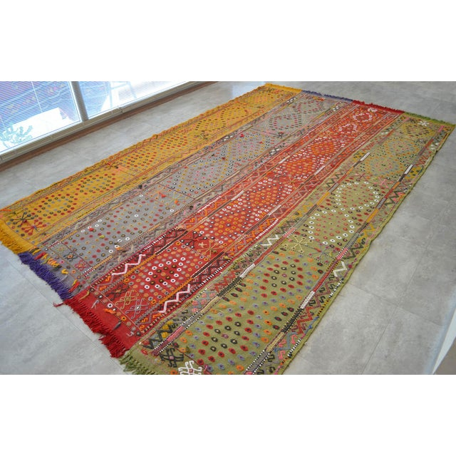 Antique Hand-Woven Turkish Rug Rare Fantastic Piece- 7′ X 11′2″ For Sale - Image 4 of 11