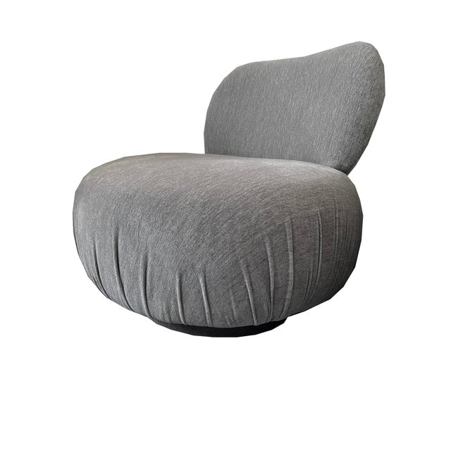 1970s Vintage Swivel Slipper Chair For Sale In Los Angeles - Image 6 of 6