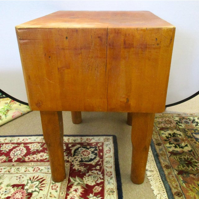 Vermont Maple Butcher Block Table For Sale - Image 5 of 5