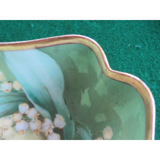 Antique Hand-Painted Signed Porcelain Bowl by Limoges For Sale In Philadelphia - Image 6 of 13