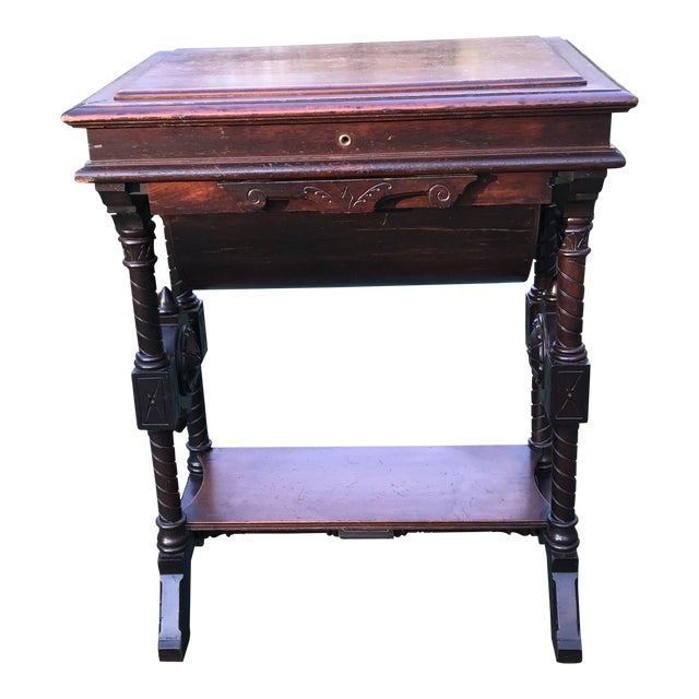 Antique Sewing Cabinet or Game Table For Sale - Antique Sewing Cabinet Or Game Table Chairish