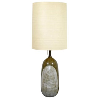 Mid-Century Modern Sy Allan Designs Ceramic Studio Earth Tone Table Lamp C.1960s For Sale