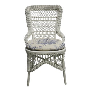 Wicker Chair - Vintage For Sale