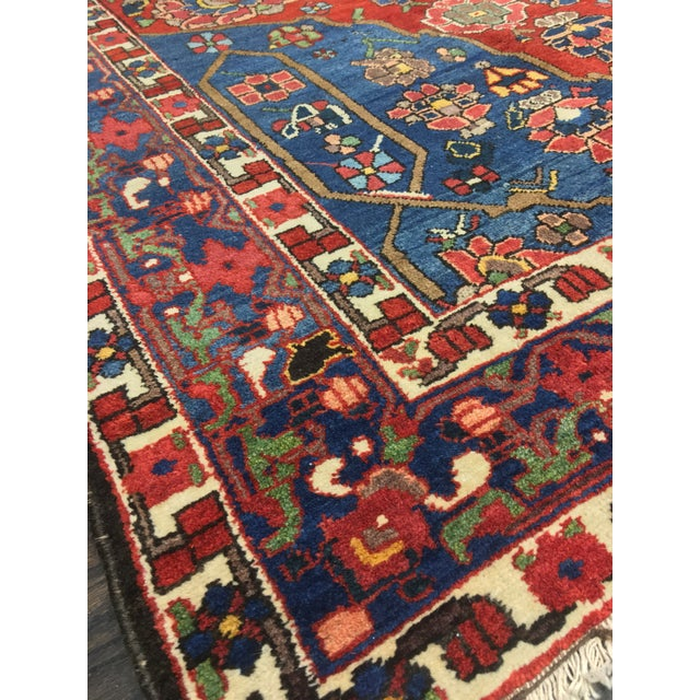"Vintage Bellwether Rugs Persian Bactiari Area Rug - 6'9""x10'2"" - Image 5 of 11"
