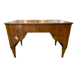 19th Century Austrian Biedermeier Mahogany Writing Desk For Sale