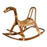 Image of Franco Albini Style Bamboo Rocking Horse For Sale