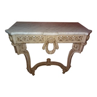 19th Century French Console With Marble Top For Sale