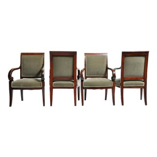 Early 19th Century Empire Period Armchairs- Set of 4 For Sale