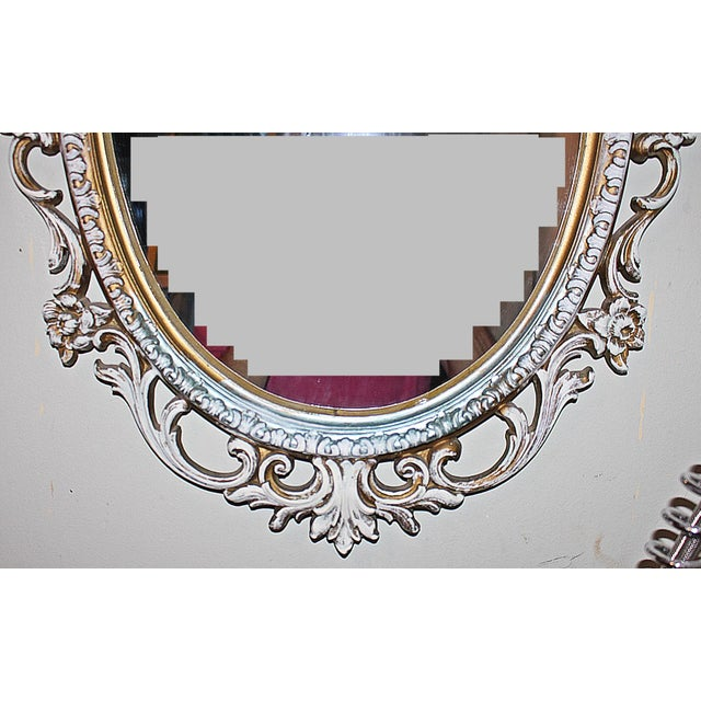Oval Rococo Mirror For Sale - Image 5 of 5
