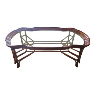 McGuire Style Bamboo Coffee Table For Sale