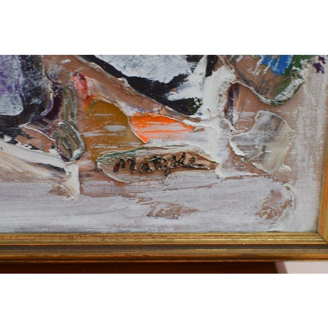 Abstract Neo Impressionism Abstract Signed Oil Painting For Sale - Image 3 of 10