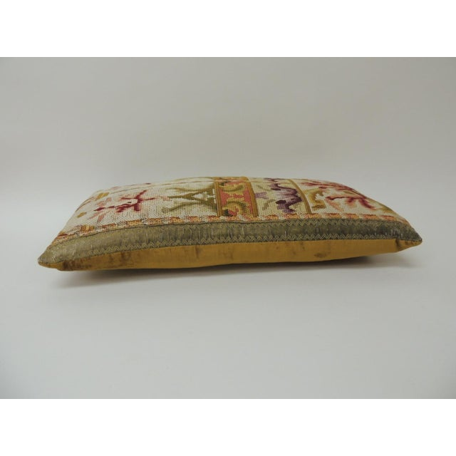 Baroque 19th Century Tapestry Decorative Lumbar Pillow For Sale - Image 3 of 5
