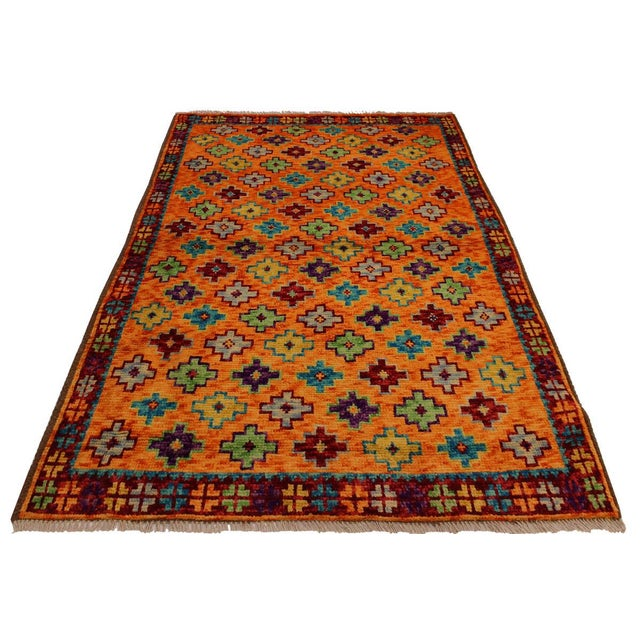 A mesmerizing addition to any décor, this exhilarating hand-knotted rug featuring exquisite coloration in an intricate...