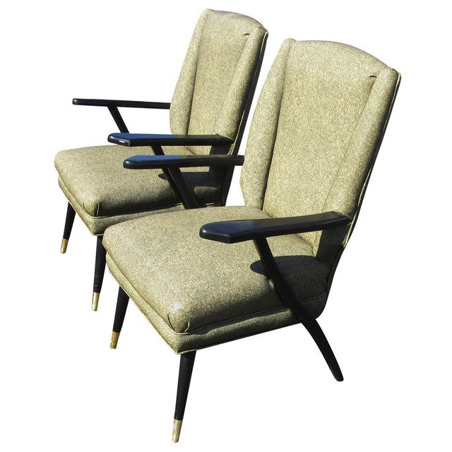 Vintage Mid-Century Pair of Italian Style Lounge Chairs Mr14715 For Sale - Image 9 of 9