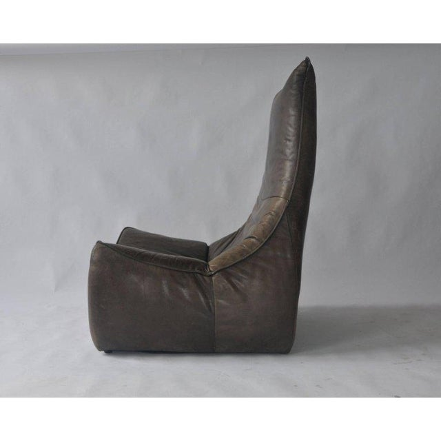 1970s Leather Chair by Gerard Van Den Berg for Montis For Sale In Boston - Image 6 of 9
