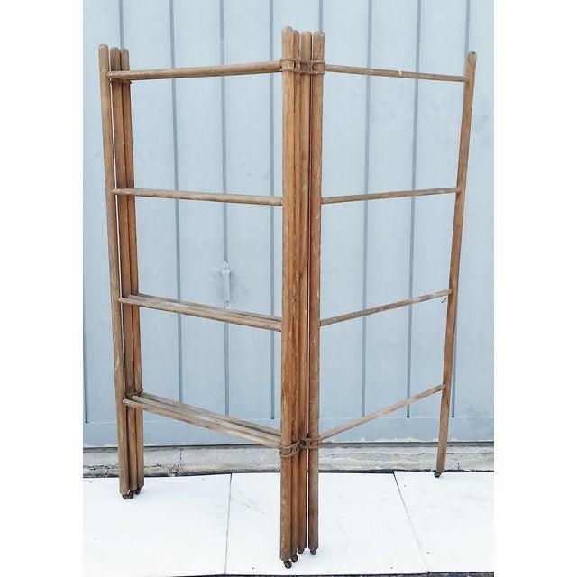 Wood & Metal Folding Rack or Screen - Image 5 of 7