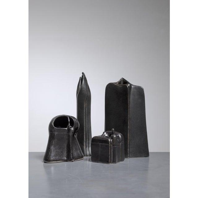 Antje Schimpfle Set of Four Sculptural Ceramic Vases, Germany, 1980s For Sale - Image 9 of 9