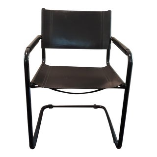 Mart Stam Style Black Cantilerver Arm Chair For Sale