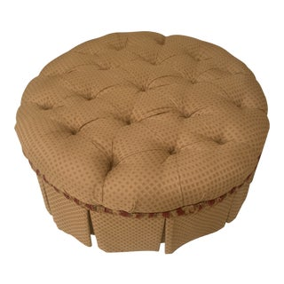 Custom and Tufted Ottoman For Sale