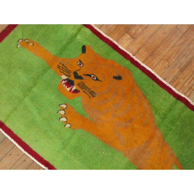 Angry Tiger Vintage Turkish Rug, 2'3'' X 4'6'' For Sale In New York - Image 6 of 10