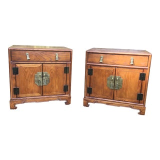 1970s Chinoiserie Century Furniture Nightstands - a Pair For Sale