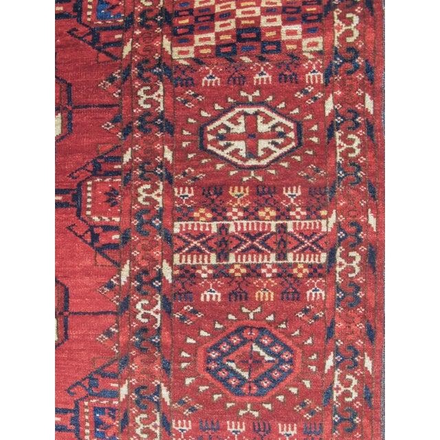 Edwardian Tekke Turkmen Main Carpet For Sale - Image 3 of 5