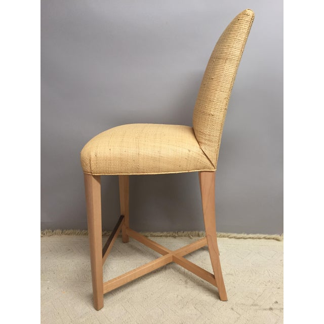 Contemporary 1980s Contemporary Donghia Raffia Bar Stools - a Pair For Sale - Image 3 of 7