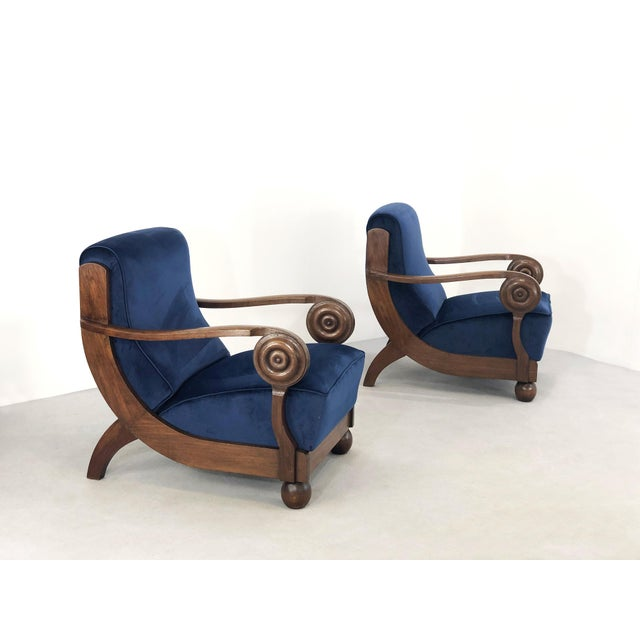 Maxime Old Maxime OLd Exceptional French Art Deco Armchairs For Sale - Image 4 of 6