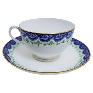 Antique Royal Worcester Porcelain Cup & Saucer For Sale