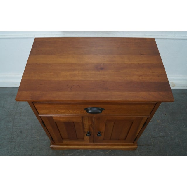 Michaels Furniture Traditional Solid Cherry Nightstands - A Pair - Image 9 of 10