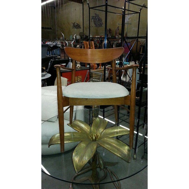 1970s Hollywood Regency Arthur Court Metal Gilded Lily Dining Table For Sale In Los Angeles - Image 6 of 7