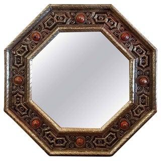 Moroccan Kasbah Hexagonal Metal Inlaid Mirror, Marrakech