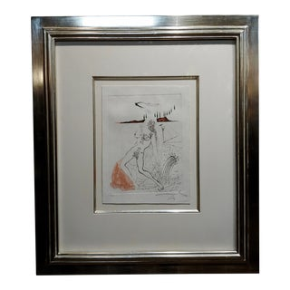 Salvador Dali -Poemes Secrets-Nude Female-Original Etching-Pencil Signed For Sale