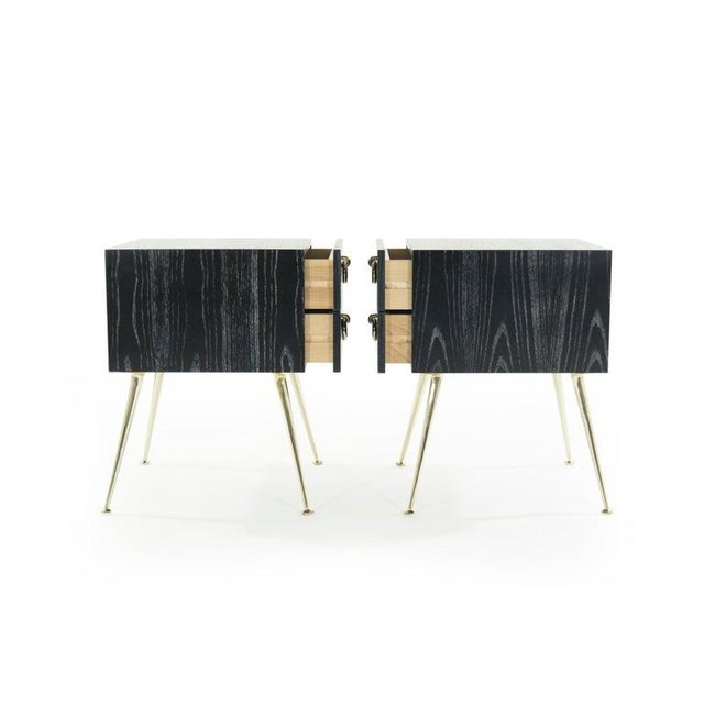 Gibby Collection End Tables in Limed Oak For Sale - Image 4 of 13